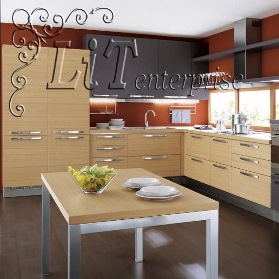 Серый кухонный гарнитур фото 5