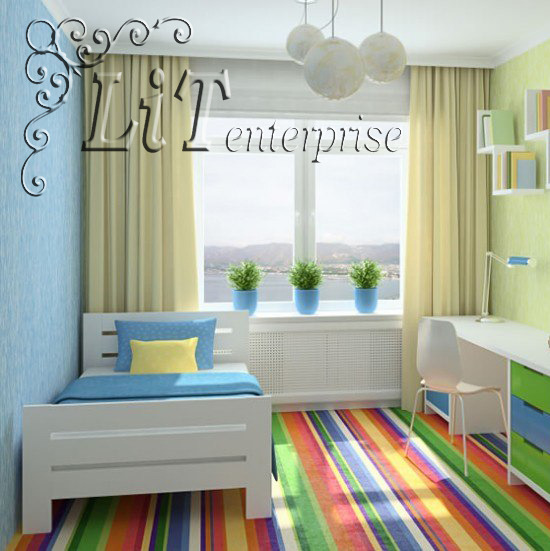Дизайн детской комнаты простой